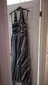 J Jasper Conran black & white maxi dress size 12