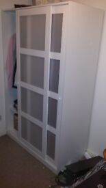 IKEA Wardrobe with 2 sliding doors KVIKNE - White - COLLECTION ONLY