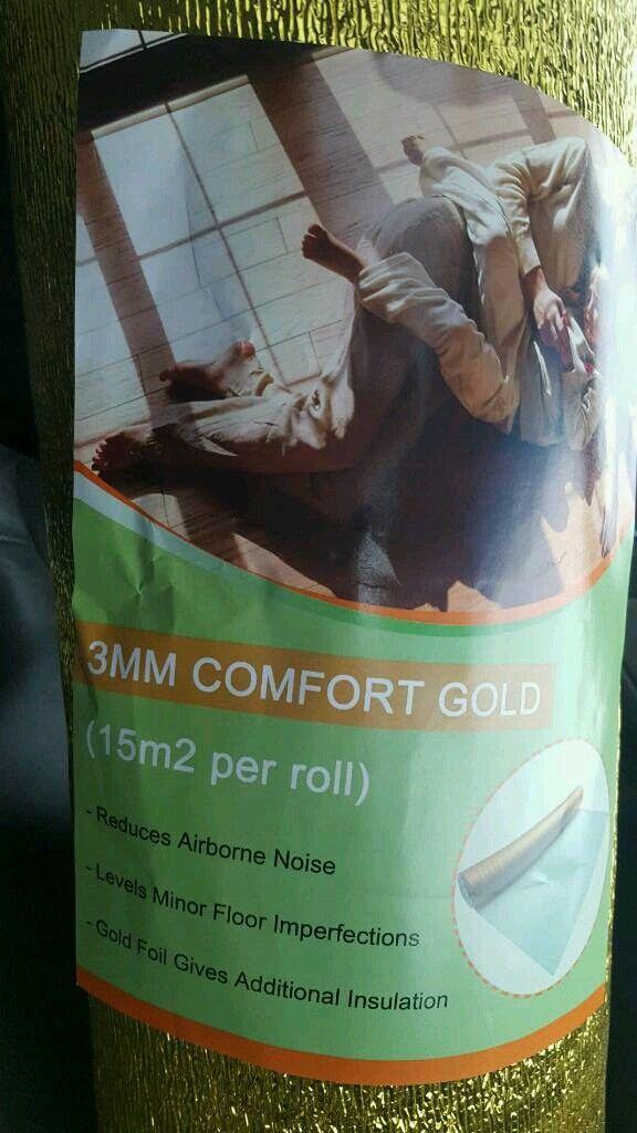 3mm acoustic comfort gold underlay