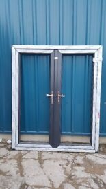 New Anthracite French Doors for sale - Factory miss measures just £290 + VAT. Free local delivery