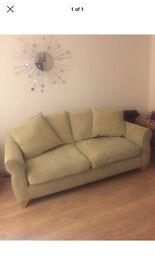 Dfs green sofa 3 seater