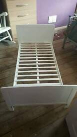 White toddler bed/ cot bed