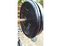 cast iron weights set 2 x 20 kg