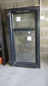 Brand new double glazed grey upvc framed window for sale 80 x 152 cms