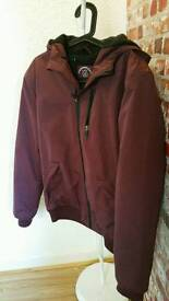 Cedarwood Estate Crimson Hooded Coat