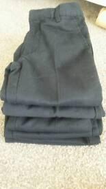 X6 Boys black school trousers