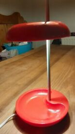 Red Bedside Lamp - good used condition - FREE UK P&P
