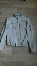 Mens real soft leather jacket slimfit