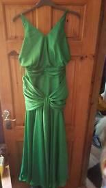 Beautiful emerald green gown