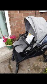 Joie evalite grey double buggy