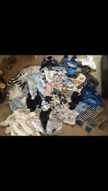 HUGE collection of baby boy clothes. First size and 0-3 months