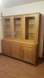 Sonoma Light 3-Door Glazed Top and Sideboard (Marks and Spencer)