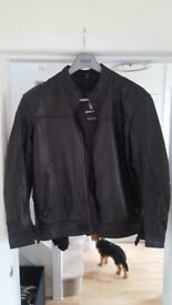 Leather Motorbike Jacket (Richa) Size 48 Only 1 year old Hardly Worn