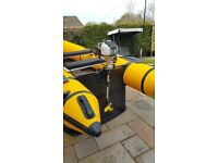 1.2 hp 4-stroke air cooled petrol outboard motor
