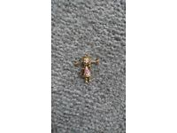 9ct Gold Gem-set Rag Doll Pendant Child's Vintage Gold Articulated Doll Gift
