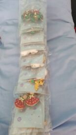 12 packs xmas earrings