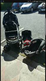 Push chair with extras