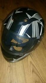 Leopard motorbike helmet