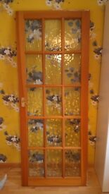 Solid Wood 15 panel Glazed Internal Door...Collect from Lincoln, or may deliver nearby