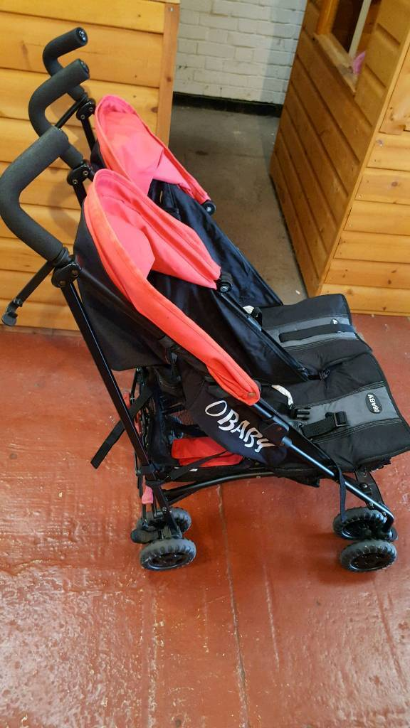 Obaby double buggy with all accessories