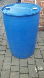 Strong blue plastic barrels 210 Ltr