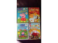 2x Baby Jake & 2x Peppa Pig dvds