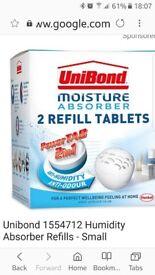 Brand new Unibond moisture absorbers.