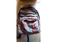 Hippy fabric rucksack