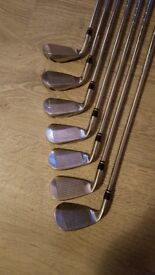 full Set of Nike golf irons, used but in great condition, bag included in the price