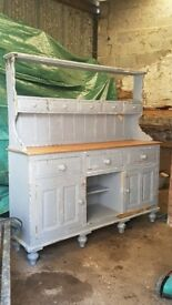 Painted Victorian style shabby chic pine dresser distressed