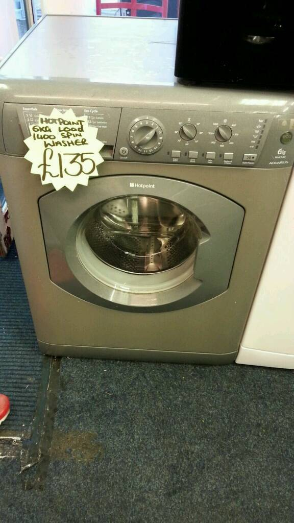 HOTPOINT 6KG LOAD 1400 SPIN WASHING MACHINEin Wakefield, West YorkshireGumtree - HOTPOINT 6KG LOAD 1400 SPIN WASHING MACHINE ● 6kg load ● 1400 spin ● silver ● a energy rating ● under 1 year old ● guarantee ● delivery service available For more information on this product please text 07521450781