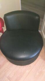 2 seater & swirly chair.