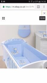 Baby crib bumper set brand new