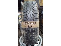 165-70-13 Continental Contact 79T 5mm Part Worn Tyre