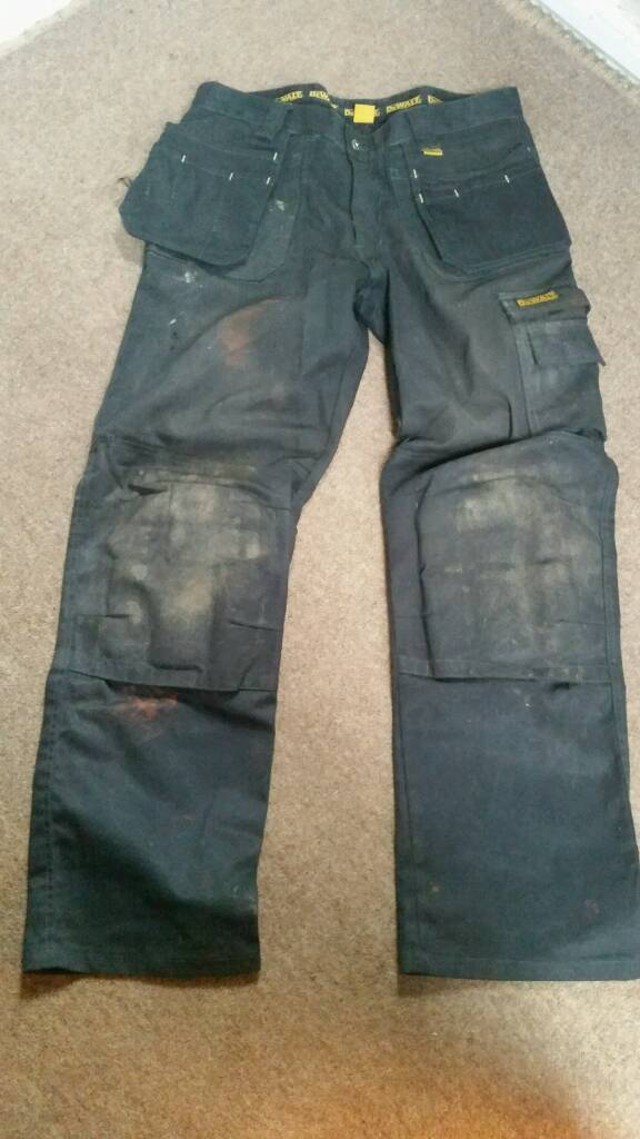 Dewalt Work Trousers 34x32 Black