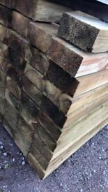 🚧195 x95 x 2.4m Wooden Sleepers
