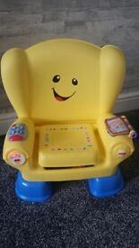 Musical child's learning seat