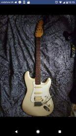 Encore 1980's Stratocaster. Perfect starter guitar!
