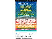 *4 Benicassim Festival Tickets and 7 days v.i.p camping