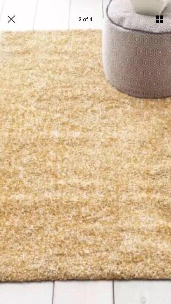 Brand new next soft speckle ochre rug