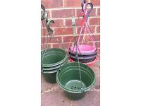 hanging baskets x9
