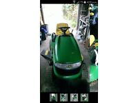 "John deer 42"" ride on mower"