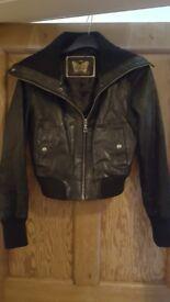 Ladies new look leather jacket
