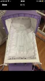 Unused Silver cross dolls bed set & canopy