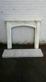 Marble Effect Fireplace Surround