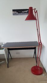 Home office desk and floor lamp in good condition