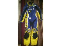 motorbike leathers and gloves