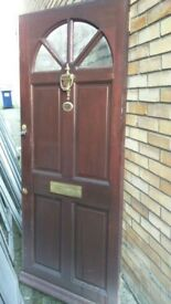 Front Hardwood Managing Door - Solid and in VGC - Can deliver local