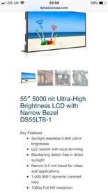 55' High Res Dynascan LCD Display Screen.