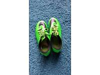 Green nike rugby boots